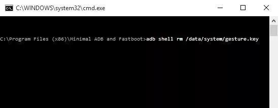 استفاده از برنامه ADB برای حذف فایل حاوی پسورد