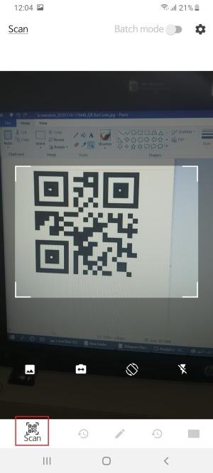 اسکن کد کیو آر با QR BarCode